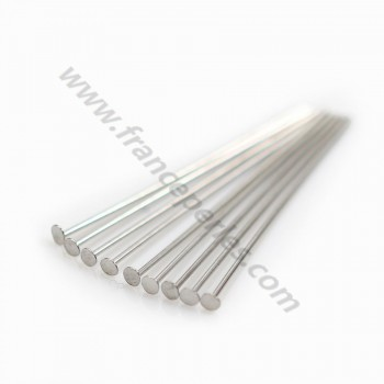 sterling Silver 925 Rhodium headpin 1.8X0.5X 25mm x 10 PCS