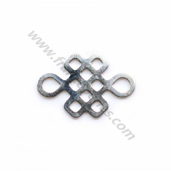 925 sterling silver chinese knot spacer 10x15mm x 1pc