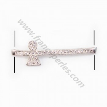 Spacer silver 925 and strass Girl 8.5x30mm x 1pc