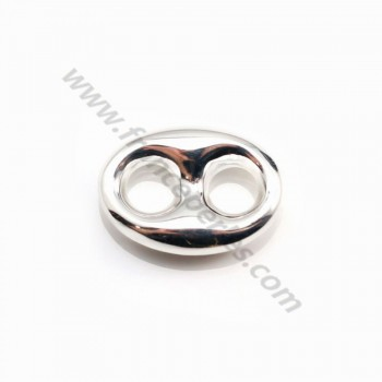 925 Sterling Silver ,coffee grain spacer,12.5 x17mm x 1pc