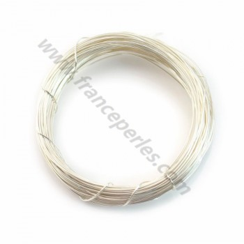 Sterling Silver 925 hard wire 0.6mm x 1m