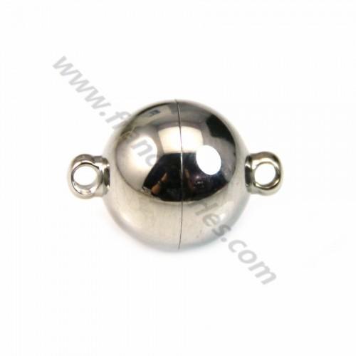 Fermoir aimanté  de forme ronde, en acier, mesurant 10mm x 1 pc
