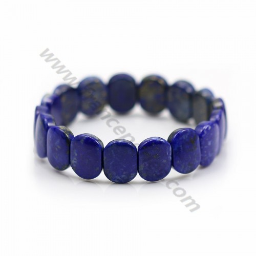 Bracelet Flat Lapis Lazuli Clementine