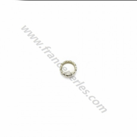 Set in 925 silver, for round cabochon of 3mm x 10pcs