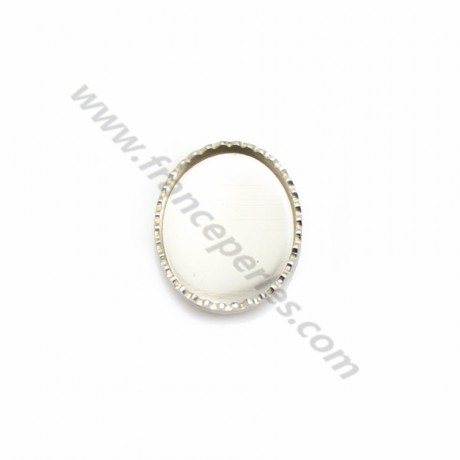 Set in 925 silver, for oval cabochon, 8 * 10mm x 2pcs