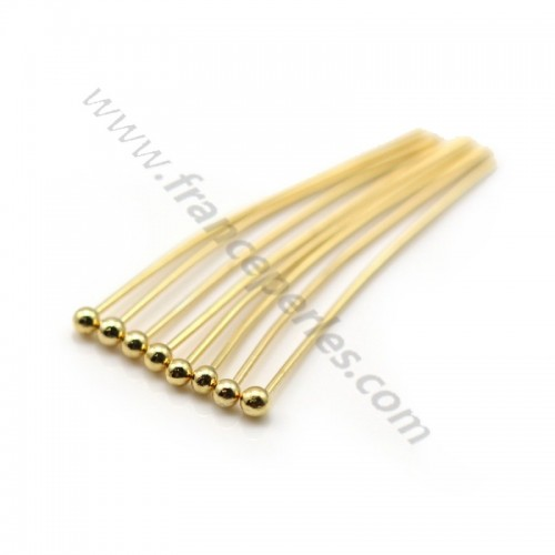 "Venner ball head pin by ""flash"" Gold on brass 25mm x 10pcs"