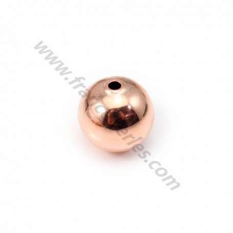"""Veneer ball by """"flash"""" Gold pink on brass 10mm x 2pc"""
