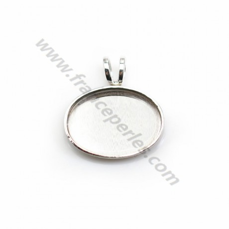 Pendant set in 925 silver, for oval cabochon, 10 * 14mm x 1pc