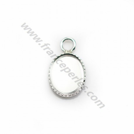 Pendant set in 925 silver, for cabochon in oval shape, 8 * 10mm x 1pc