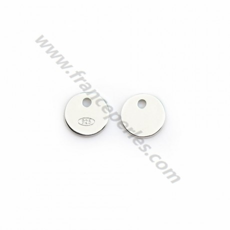 """925 sterling silver """"silver"""" tag 7mm  x 5pcs"""
