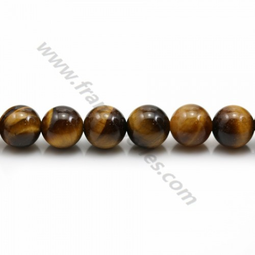 Yellow Tiger Eye Round 8mm x 40cm