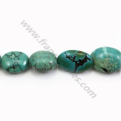 Turquoise natural, in oval shape, 13 - 20 * 17 - 25mm x 40cm