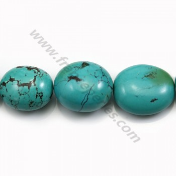 Natural turquoise, in oval shaped, 21 - 28 * 25 - 35mm x 40cm