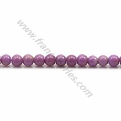 Phosphosiderite violet clair, de forme ronde, 4mm x 40cm