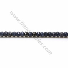 Blue sapphire, in round faceted shape, measuring 3mm x 39cm
