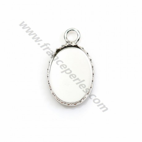Pendant set in 925 silver, for oval cabochon, 13 * 18mm x 1pc