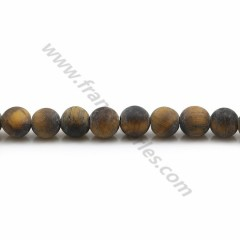 Matte tiger's eye, in a round shape 6mm x 38 mm