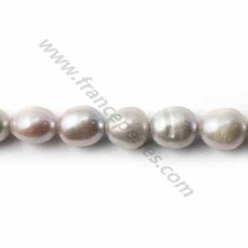 Grey Freshwater Pearl oval 9*12mm X 40 cm