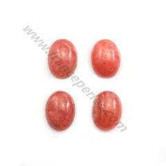 Pink rhodochrosite cabochon, in oval shape, in size of 9*12mm x 1pc