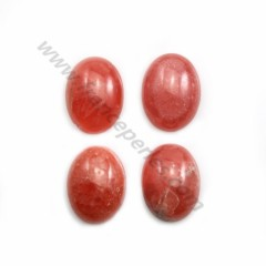 Pink rhodochrosite cabochon, in oval shape, in size of 13*17mm x 1pc