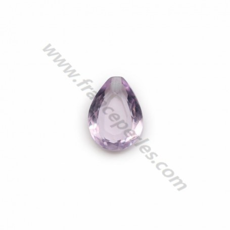 Rough stone pendant in clear amethyste x 1pc