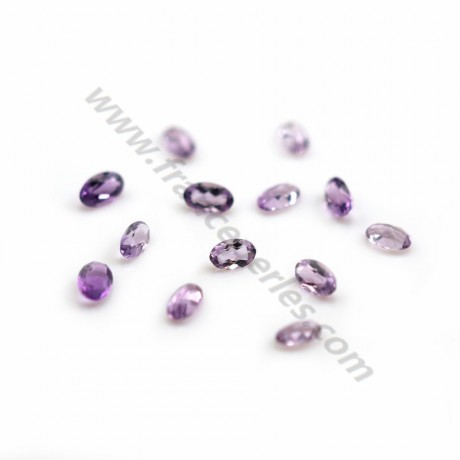 Pendant semi-pierced in clear amethyste 9*12mm  x 1pc