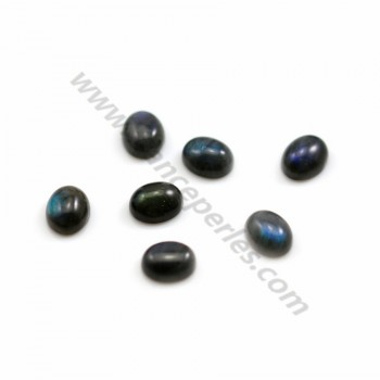 Cabochon of labradorite, in oval shaped, 8 * 10mm x 2pcs