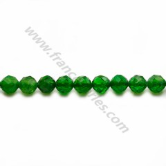 Tsavorite green, in the shape of a faceted round 3.5-4mm x 39cm