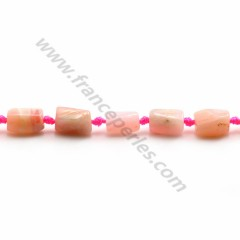 Opale pink, in shaped of a drop 6 * 16mm x 40cm