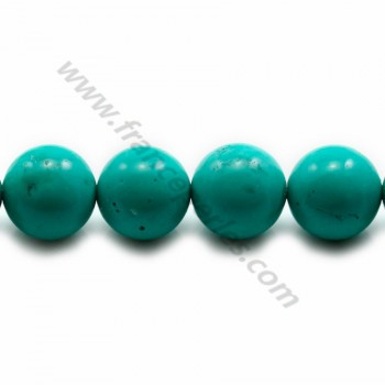 Turquoise green treated round 14mm x 40cm