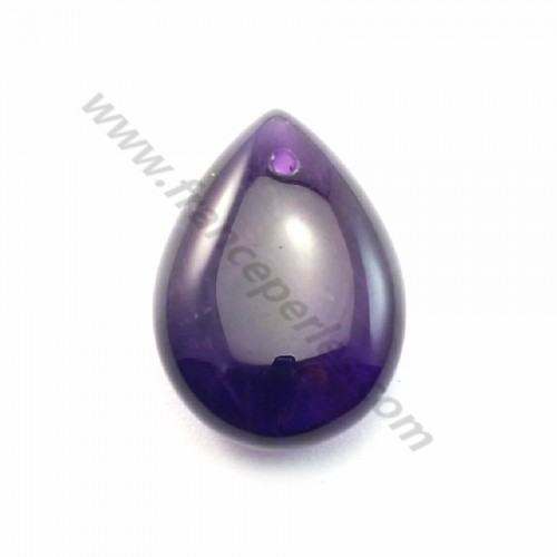 Amethyst Flat Teardrop 12.5*17.5mm X 1pc