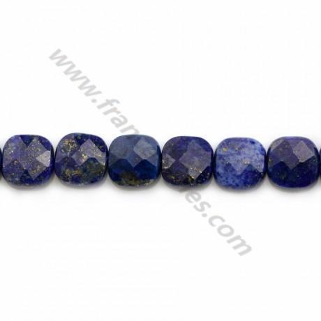 Lapis lazuli faceted square 8mm x 4pcs