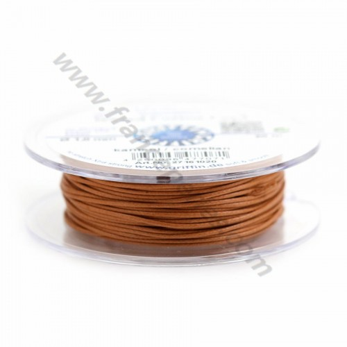 Cornaline waxed cotton cords 1.0mm x 20m