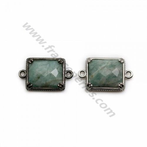 Cristal de roche taille goutte sertie sur argent 11.5*15mm x 1pc