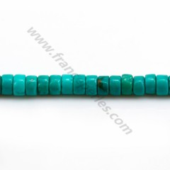 Howlite teinted blue green, in shaped of a washer, 3 * 4mm x 40cm