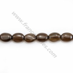 Smoky quartz, of oval shape, in size of 6*8mm x 39cm