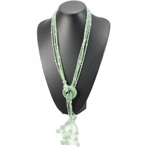 Freshwater Pearl & Aventurine Agnes Necklace Donut
