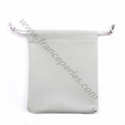 Velvet pouch, light gray color, 7*9cm x 1pc