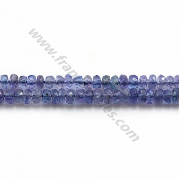 Tanzanite Rondelle Faceted 3.5-4mm x 37cm
