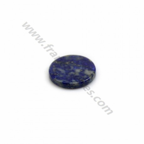 Black agate cabochon, in round and flat shape, 16mm x 2pcs