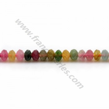 Tourmaline Faceted Rondelle3* 4mm X 40cm