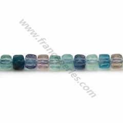 Multicolored tourmaline, in round and flat faceted shape, 4mm x 40cm