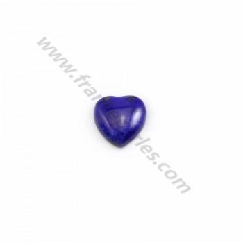 Cabochon Lapis-lazuli coeur 8mm x 2pcs
