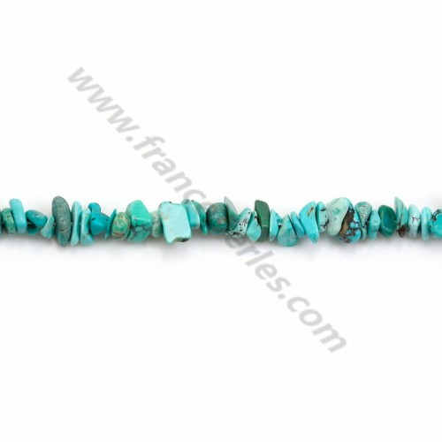 Turquoise in form chips x 80cm