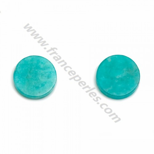 Amazonite of Peru cabochon, in round and flat shape, 8mm x 1pc