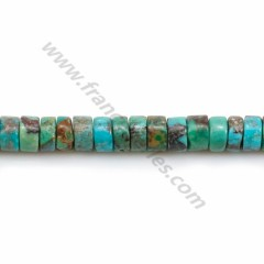 Turquoise, Heishi, in the shape of a washer, 2*4mm x 40cm