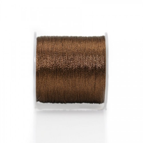 Twisted brown polyester thread, 0.3mm x 150m