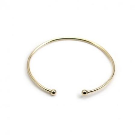 Bracelet jonc, boule à visser, en gold filled 65mm*2.3mm x 1pc