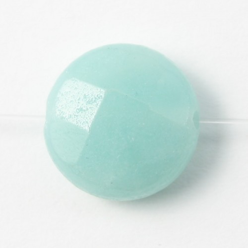 Amazonite Ronde Plate  facette 12mm X 4 pcs