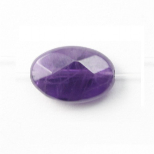 Amethyst Faceted Oval